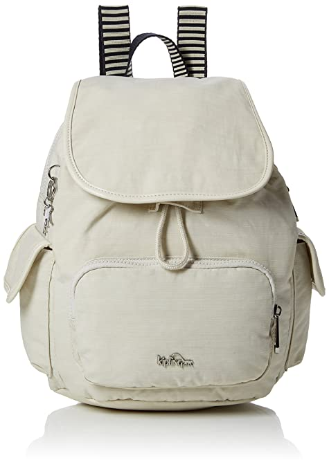 2fea98cd1c Kipling City Pack S - Zaini Donna, Bianco (Dazz Cream C), 15x24x45 ...