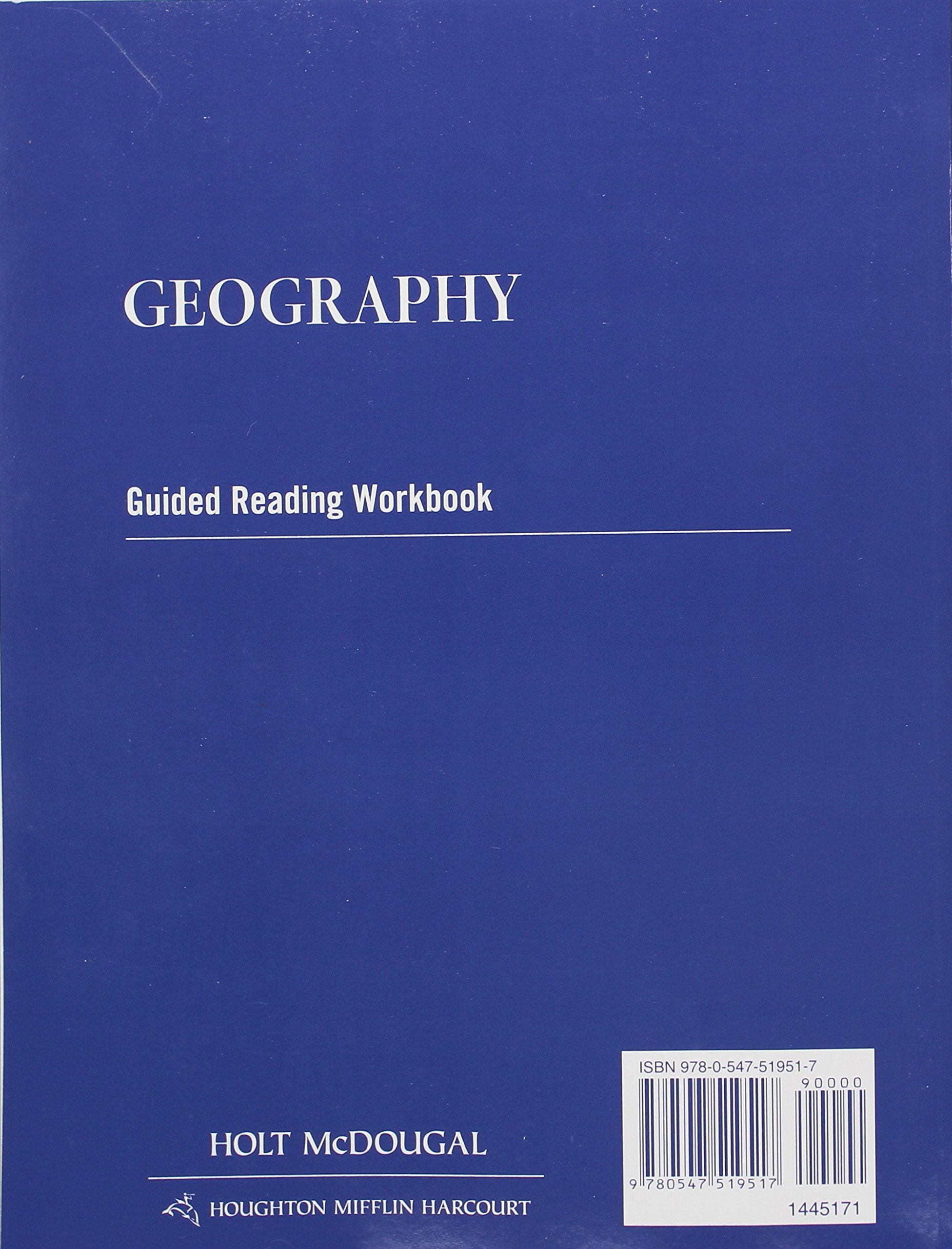 Geography: Guided Reading Workbook: HOLT MCDOUGAL: 9780547519517:  Amazon.com: Books
