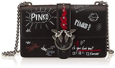 cf5ab7e3354ee Pinko Love Graffiti Tracolla Vitello Seta