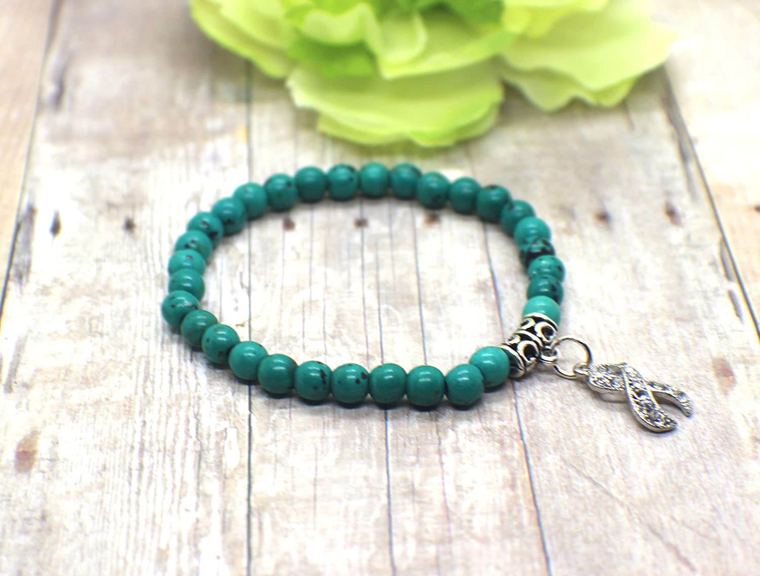ovarian awareness ribbon listing ocd teal zoom il fullxfull cancer wrap for bracelet