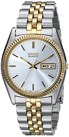 seiko men s sgf204 stainless steel two tone watch seiko amazon seiko men s sgf204 stainless steel two tone watch