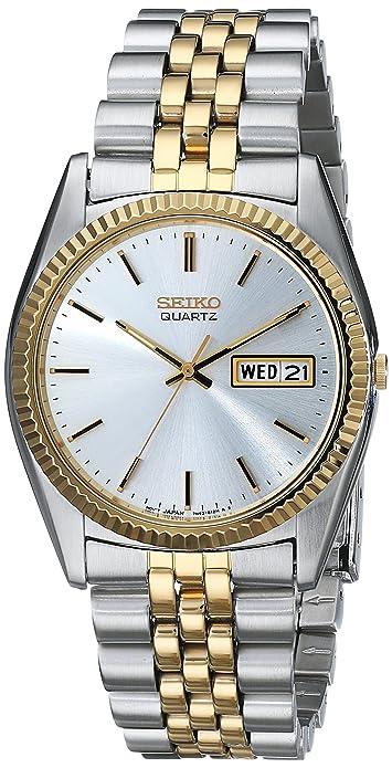 ef789cb8821 Amazon.com: Seiko Men's SGF204 Stainless Steel Two-Tone Watch: Seiko:  Watches