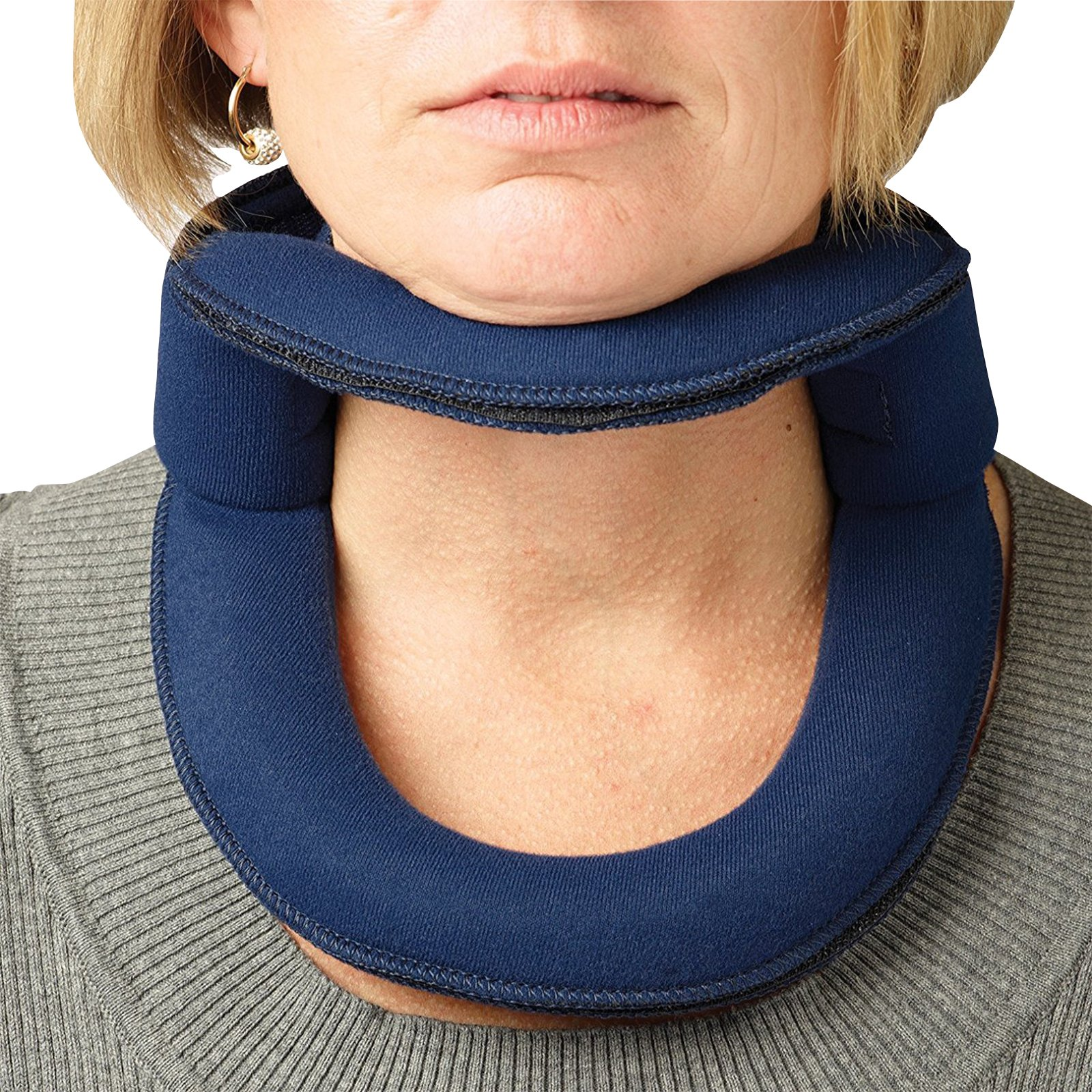 Rolyan Adjustable Frame Cervical Collar, Size Small, Soft Neck Brace Fits Neck Circumferences 12'' - 14'', Wire Frame, Bendable Collar Stabilizes Neck After Head and Neck Injuries