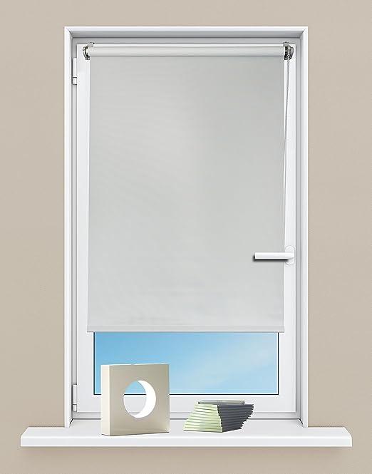Seitenzugrollo 140x160 creme verdunkelnd Verdunklungsrollo Klemmfix Sichtschutz