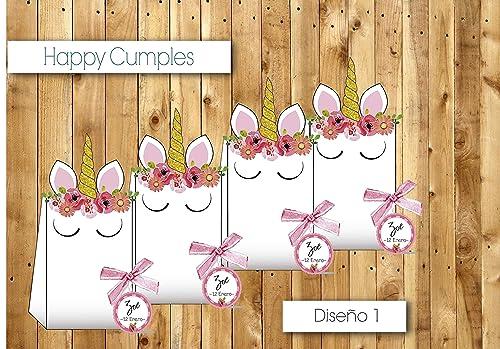 Unicornio Cumpleaños cole /12 cajas Chuches incluidos: Amazon.es: Handmade