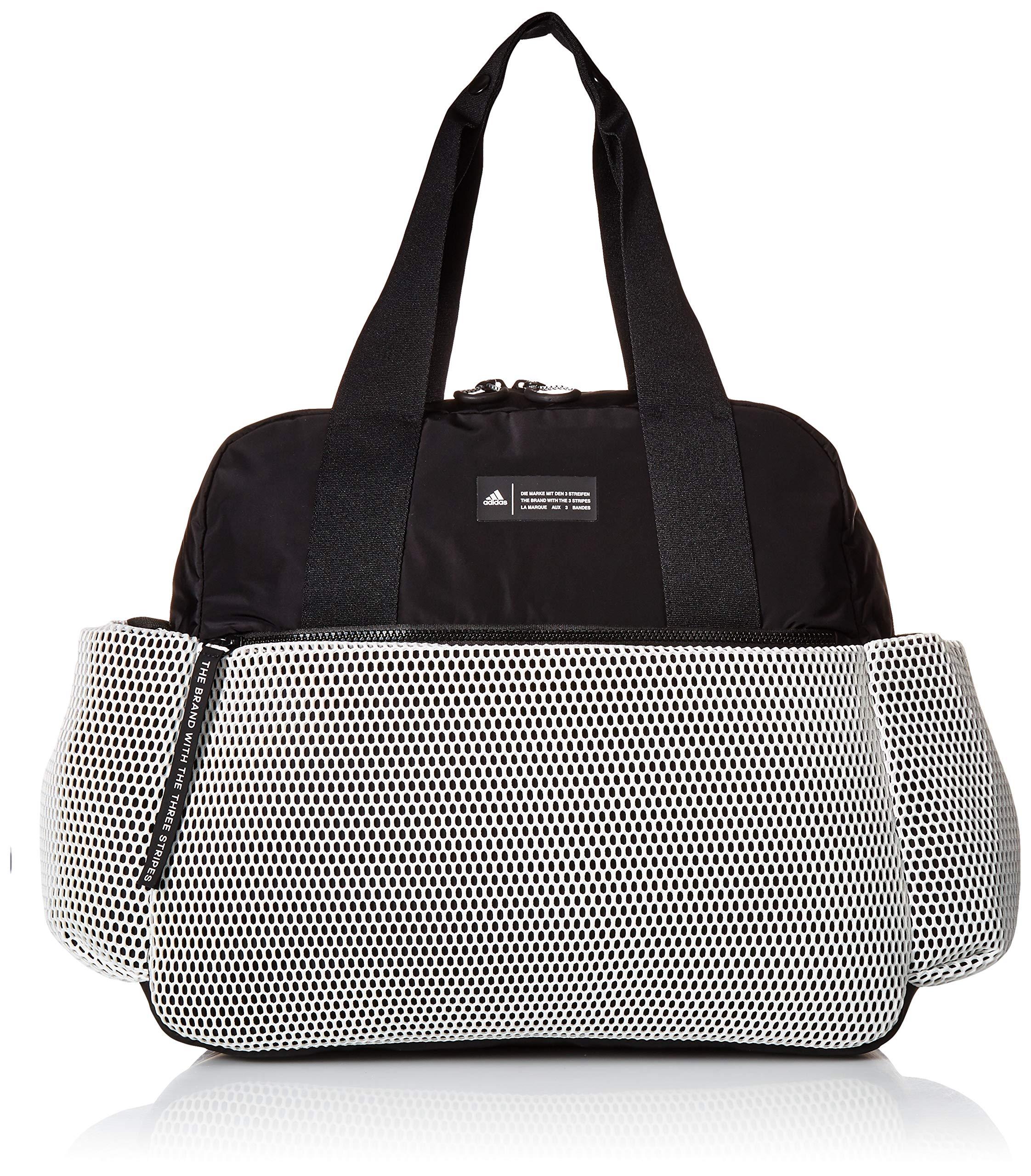 adidas Sport to Street Premium Tote Bag, White/Black/White Mesh, One Size