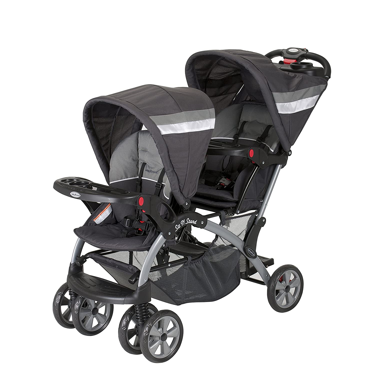 Baby Trend Sit and Stand Double Stroller, Liberty SS76711