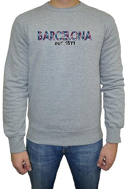 Barcelona Est 1899 Hombre Sudadera Jersey Pullover Gris Todos Los Tamaños | Mens Sweatshirt Jumper Pullover