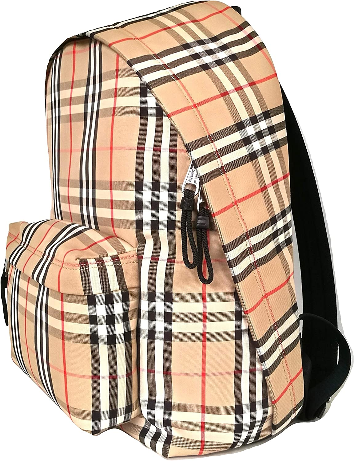 Burberry Jett Womens Signature Vintage Check Backpack Beige Size Large