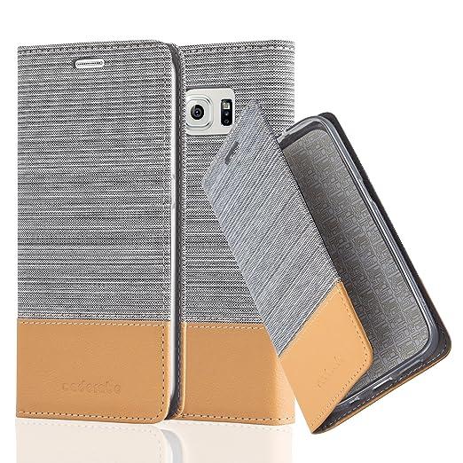 10 opinioni per Cadorabo- Custodia Book Style per Samsung Galaxy S6 Design Tessuto- Similpelle