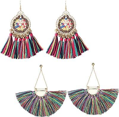 Modern Hoop Earrings Lightweight Earrings,Statement Earrings Statement Hoop Earrings Large Hoop earrings Tassel Jewelry Tassel Earrings
