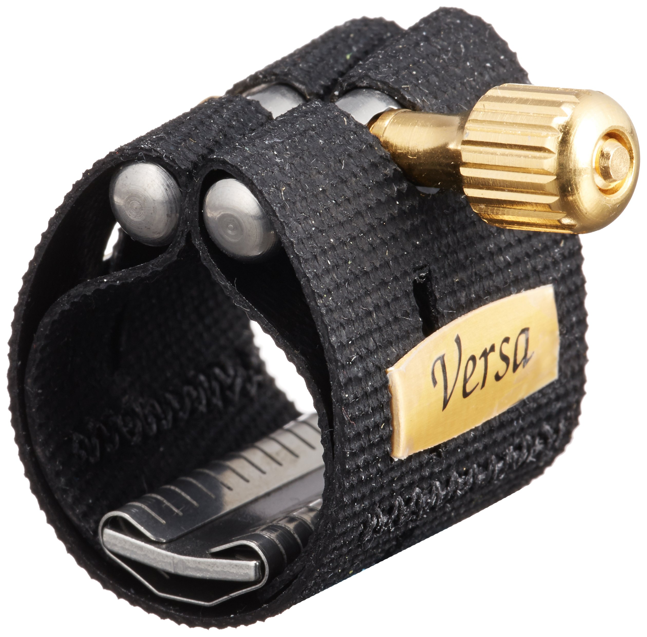 Rovner V1RVS Versa Ligature with Cap for Hard Rubber Soprano Sax, Gold Fittings