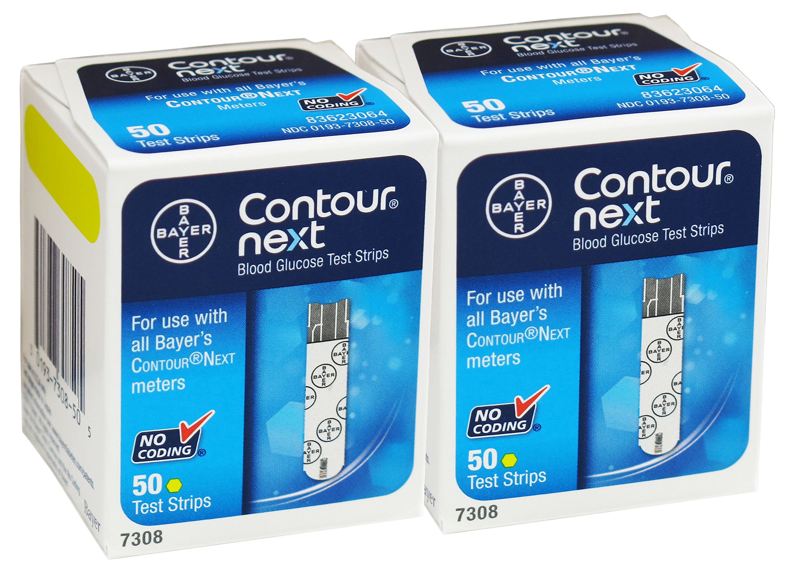 Give fast and accurate results within 5-second - Bayer Contour Next Blood Glucose Test Strips, 100 Ea by Bayer