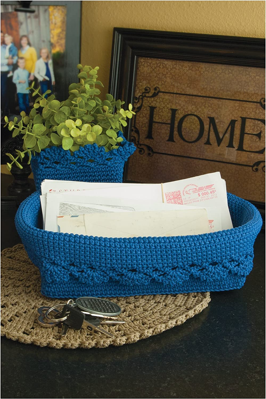 Amazon Com Heritage Lace Mode Crochet Basket Set 3 W Trim Furniture Decor