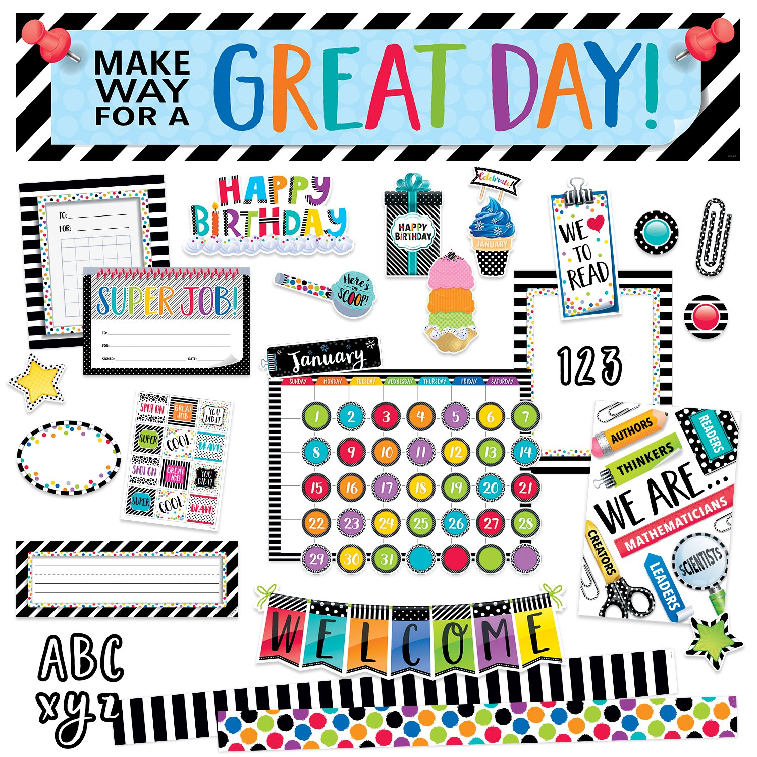 Bold & Bright Collection Classroom Decor Kit by Creative Teaching Press