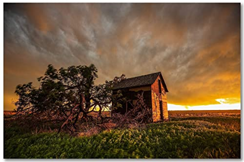 Photography Landscape Old Barn Stormy Sky phot photograph New Orleans French Quarter Fine Art Travel Decor