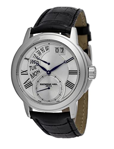 Raymond Weil 9579-STC-65001 - Reloj de pulsera hombre, piel, color negro: Amazon.es: Relojes