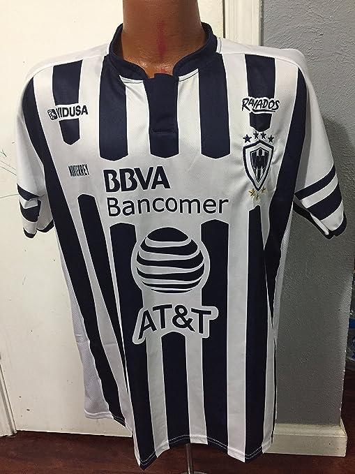 buy popular 784a1 ce2db Amazon.com : New! Monterrey Rayados MEXICO Replica Jersey ...