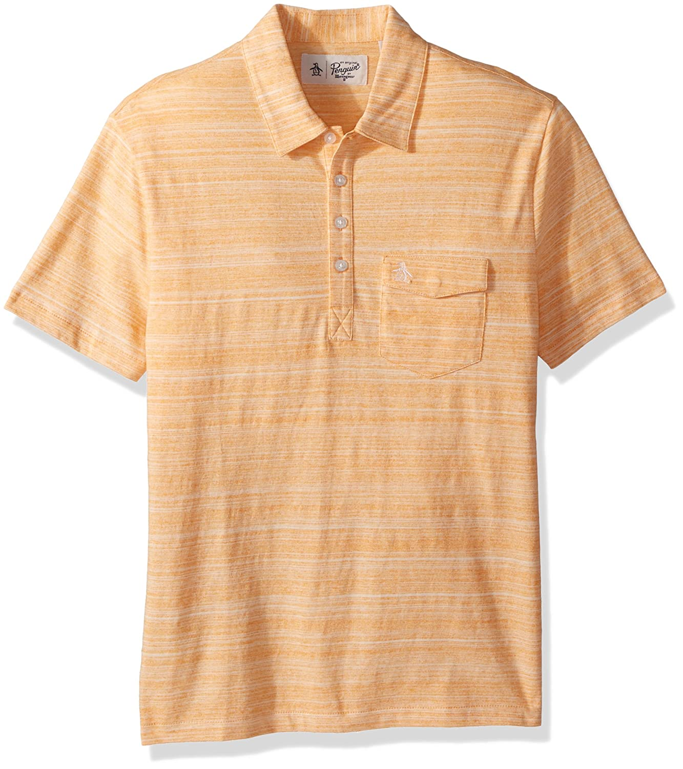 Original Penguin Mens Short Sleeve Spacedye Jack 2.0 Polo, Mock ...