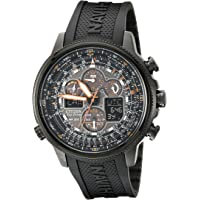 Citizen Navihawk A-T Black Rubber Men's Watch (JY8035-04E)