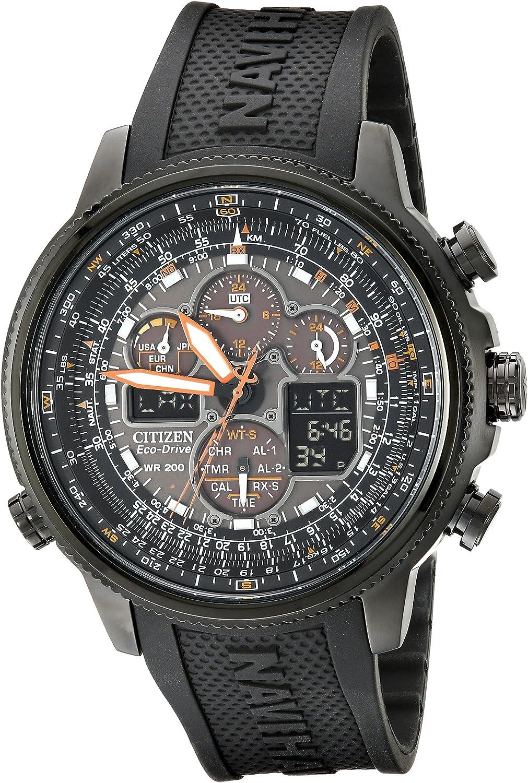 Citizen Men s Eco-Drive Navihawk Atomic Timekeeping Watch, JY8035-04E