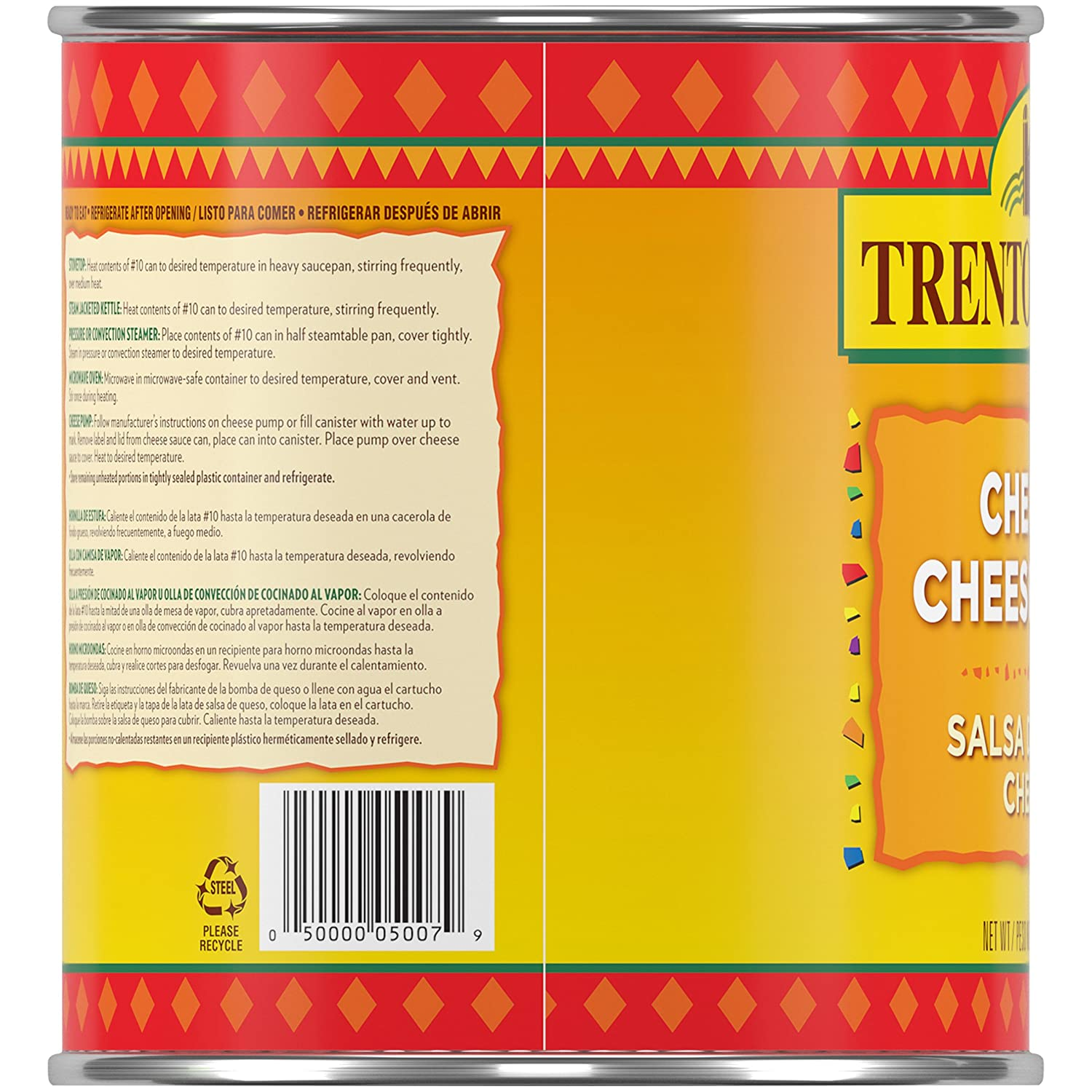 Amazon.com: Trenton Farms Sauce, Cheddar Cheese, 106 Ounce (Pack of 6)