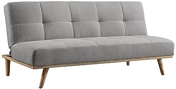 Birlea cómodo sofá Cama, Madera, Gris, 182 x 87 x 84,5 cm ...