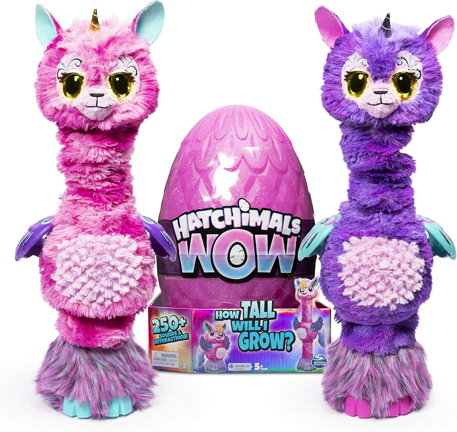 """B07NFRYSZQ Hatchimals Wow Llalacorn 32"""" Tall Interactive with Re-Hatchable Egg (Styles May Vary) 91w1cPCPWHL"""