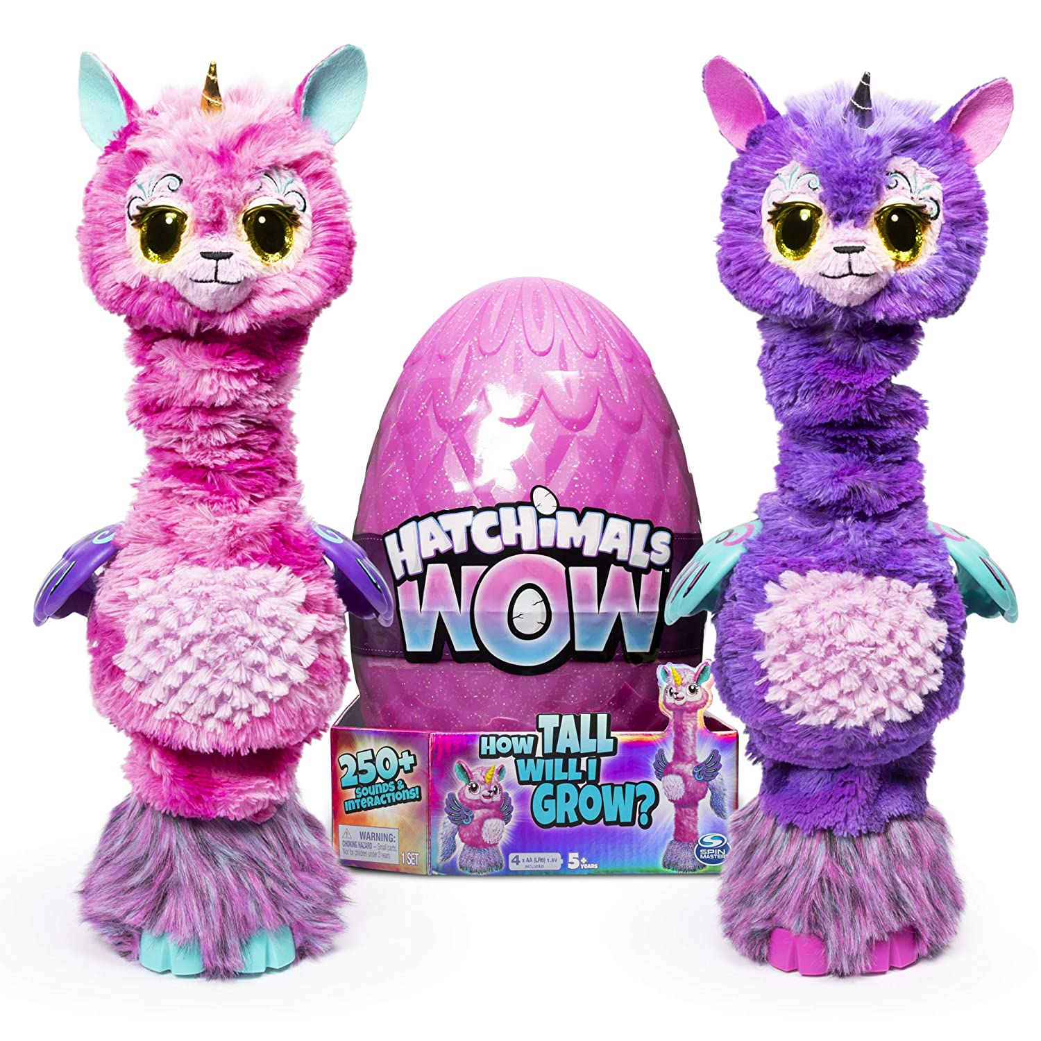 """Hatchimals Wow Llalacorn 32"""" Tall Interactive with Re-Hatchable Egg (Styles May Vary)"""