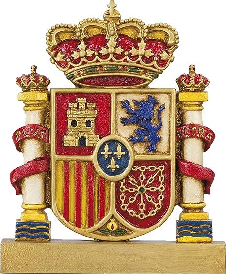 Figura escudo bandera de España GRABADA (todo color): Amazon.es: Hogar