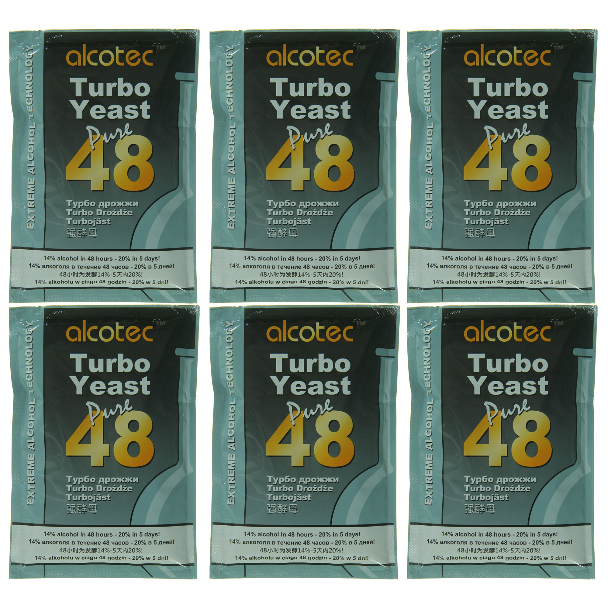 Alcotec 48 Hour Turbo Yeast (Pack of 6)