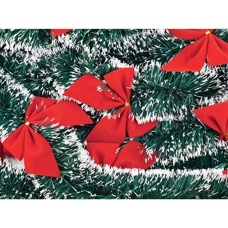 Luckyld 24 Piezas De Cintas Ornamentales Rojas Decoraciones para /árboles De Navidad Deco Decoraciones Navide/ñas Poinsettia Glitter Navidad Flor Artificial para Navidad 24st/ück-6cm-gold