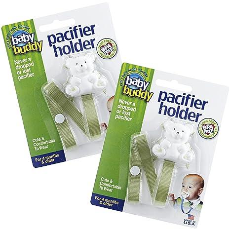 Baby Buddy - Soporte para chupete (2 piezas, para bebés ...
