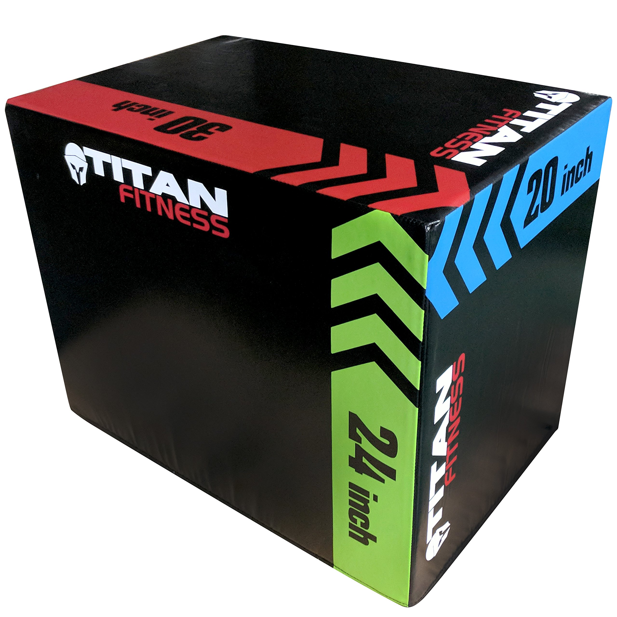 TITAN FITNESS 3-in-1 Portable Foam Plyometric Box, Jumping Exercise Equipment by TITAN FITNESS