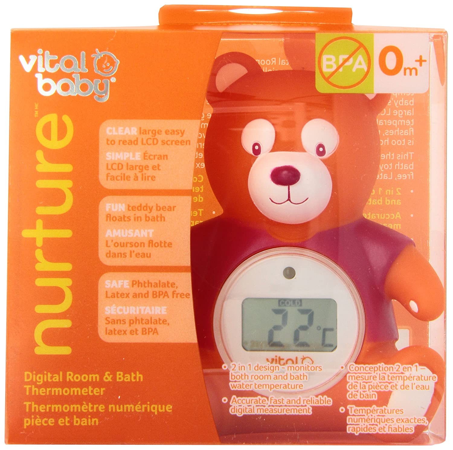 Vital Baby Nurture Digital Bath and Room Thermometer 87511
