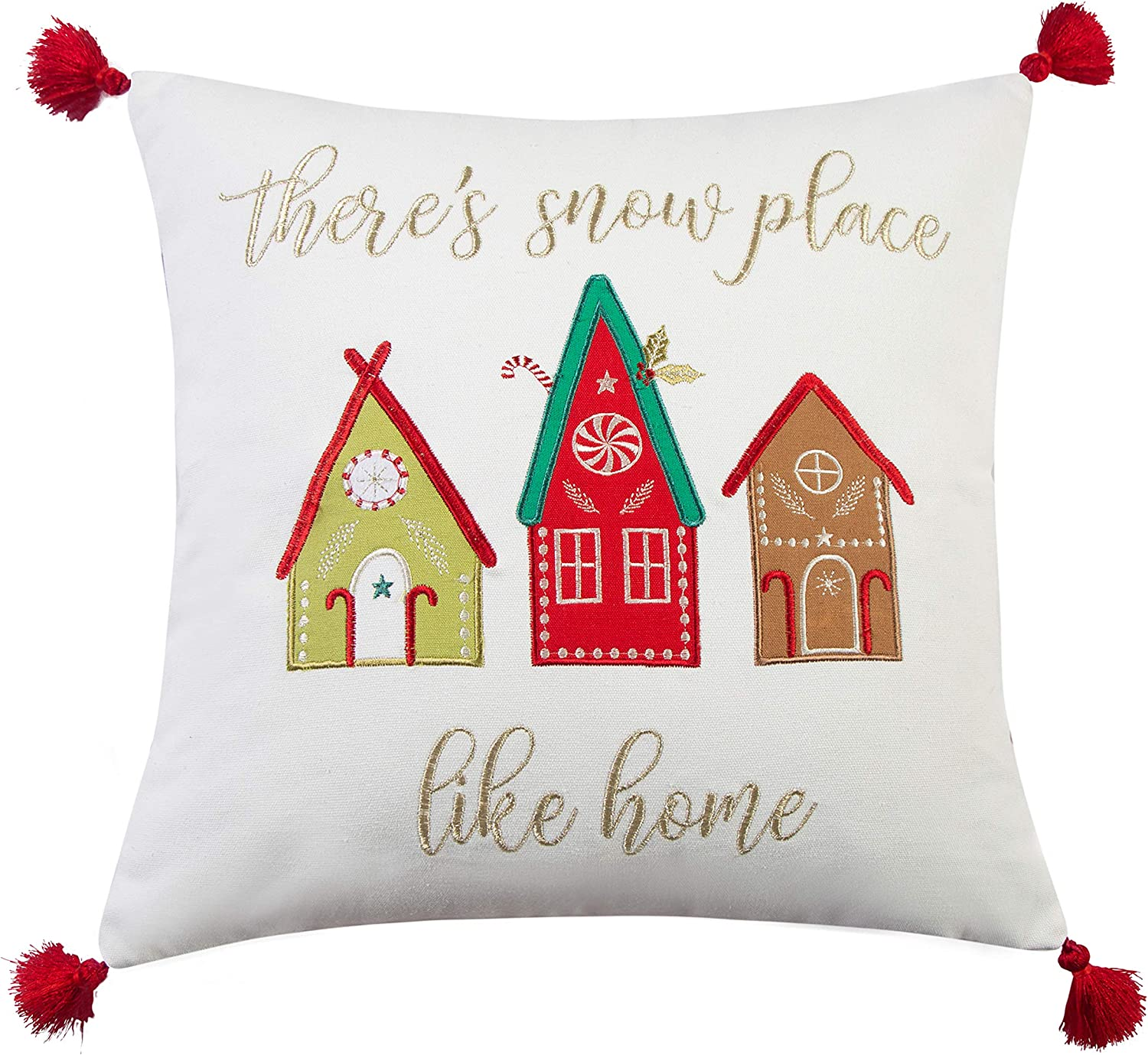 There is snow place like home Christmas Pillow