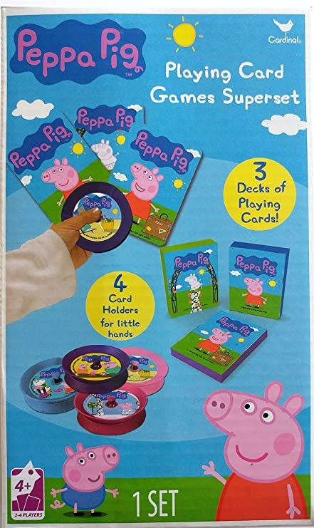 Amazon Com Peppa Pig Playing Card Games Superset Toys Games