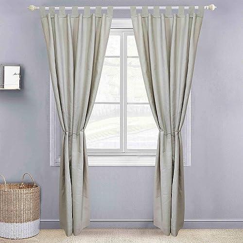 Derf HOME 2 Panels Solid Color Nature Linen Sheer Window Curtains Elegant Window Voile Panels/Drapes/Treatment