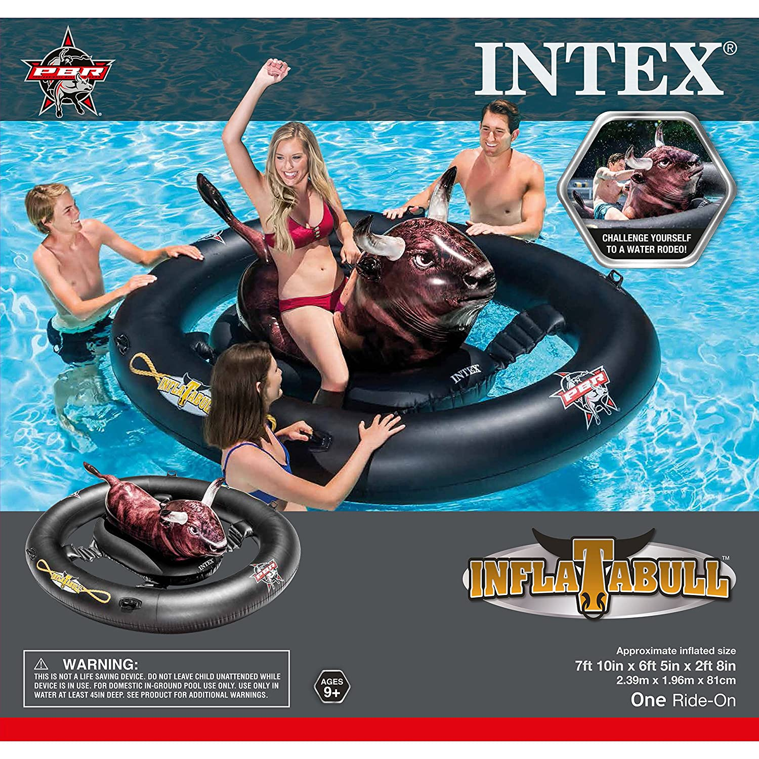 INTEX inflat-a-Bull, Inflable Ride-on Piscina de Juguete con ...