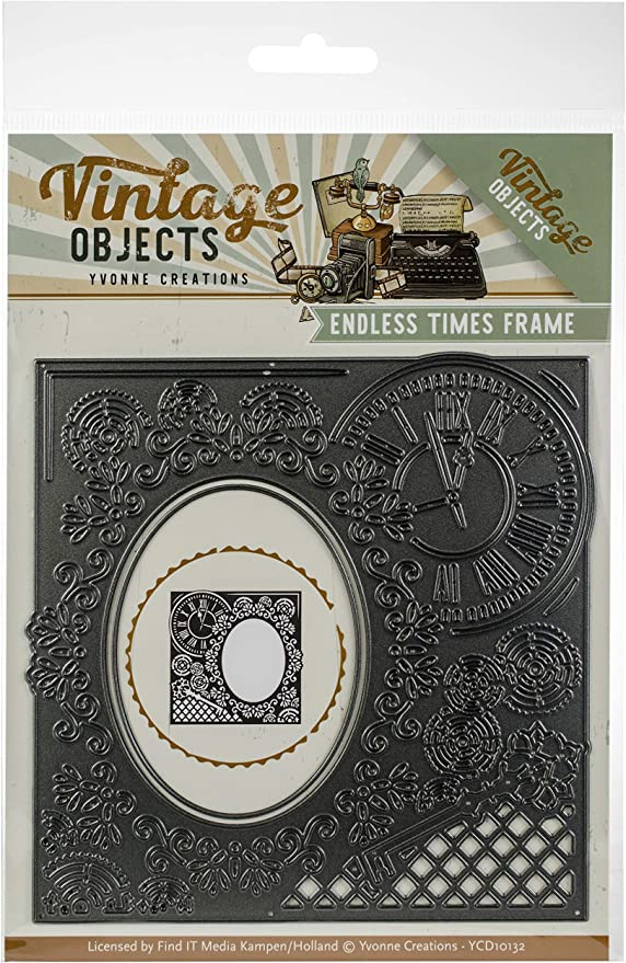 Yvonne Creations Endless Times Frame Vintage Objects Cutting Die YCD10132