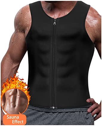 b28c3bb5ef39a Amazon.com  Gotoly Men s Sauna Sweat Waist Trainer Vests Weight Loss ...