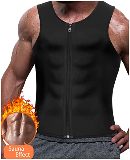 6322c41b3c Amazon.com  Gotoly Men s Sauna Sweat Waist Trainer Vests Weight Loss ...