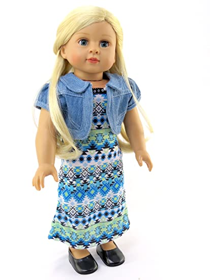 200c97313fc Buy Tribal Print Maxi Dress Outfit - 18 Inch Doll Clothes - American Girl  Dolls Online at Low Prices in India - Amazon.in