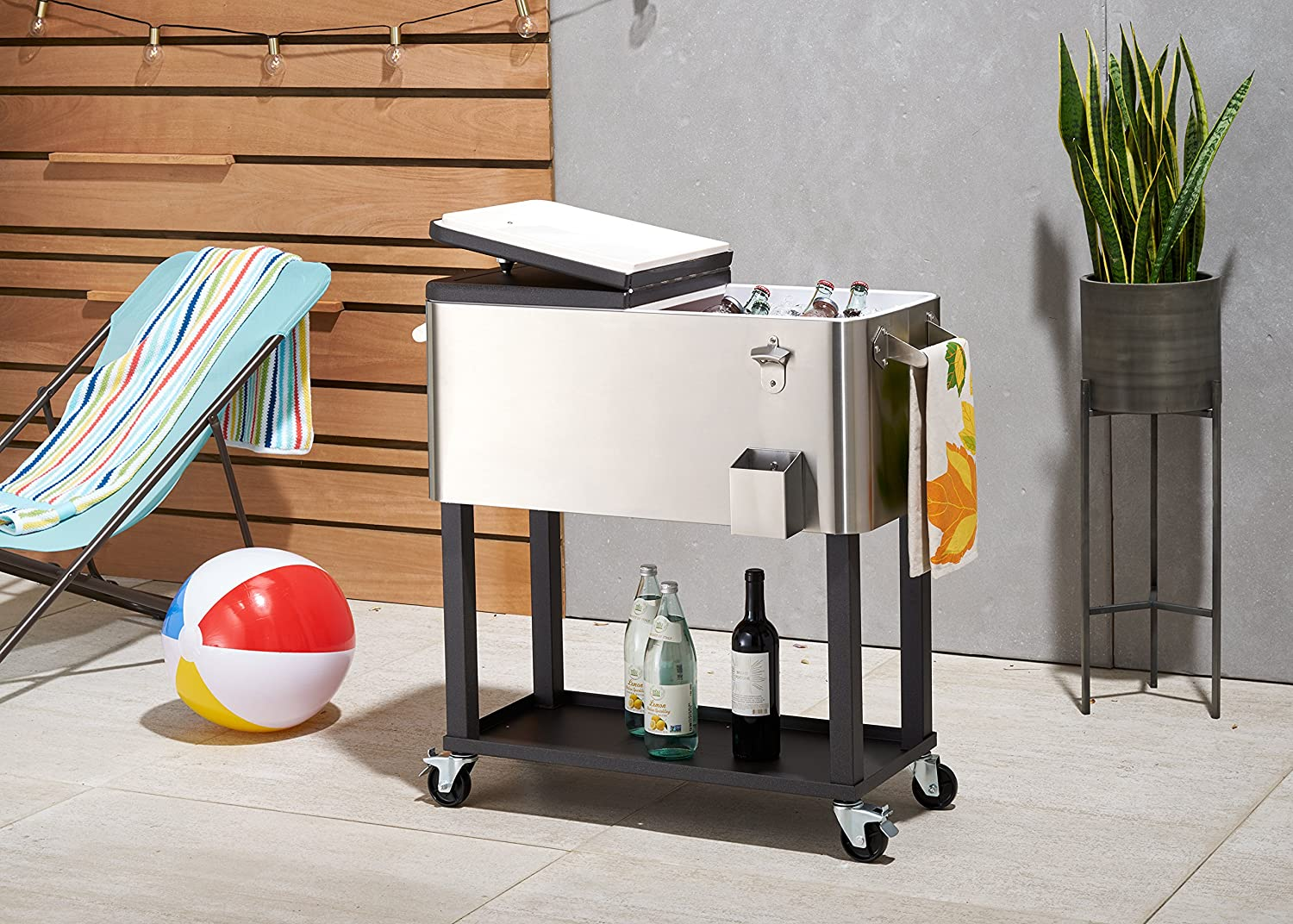 Charming Amazon.com: TRINITY TXK 0802 Stainless Steel Cooler With Shelf: Garden U0026  Outdoor