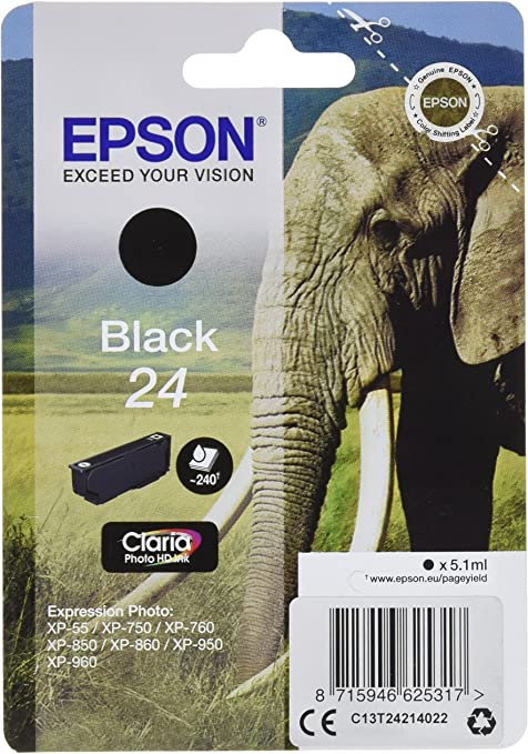 Epson C13t24214022 Schwarz Original Tintenpatronen Pack Elektronik