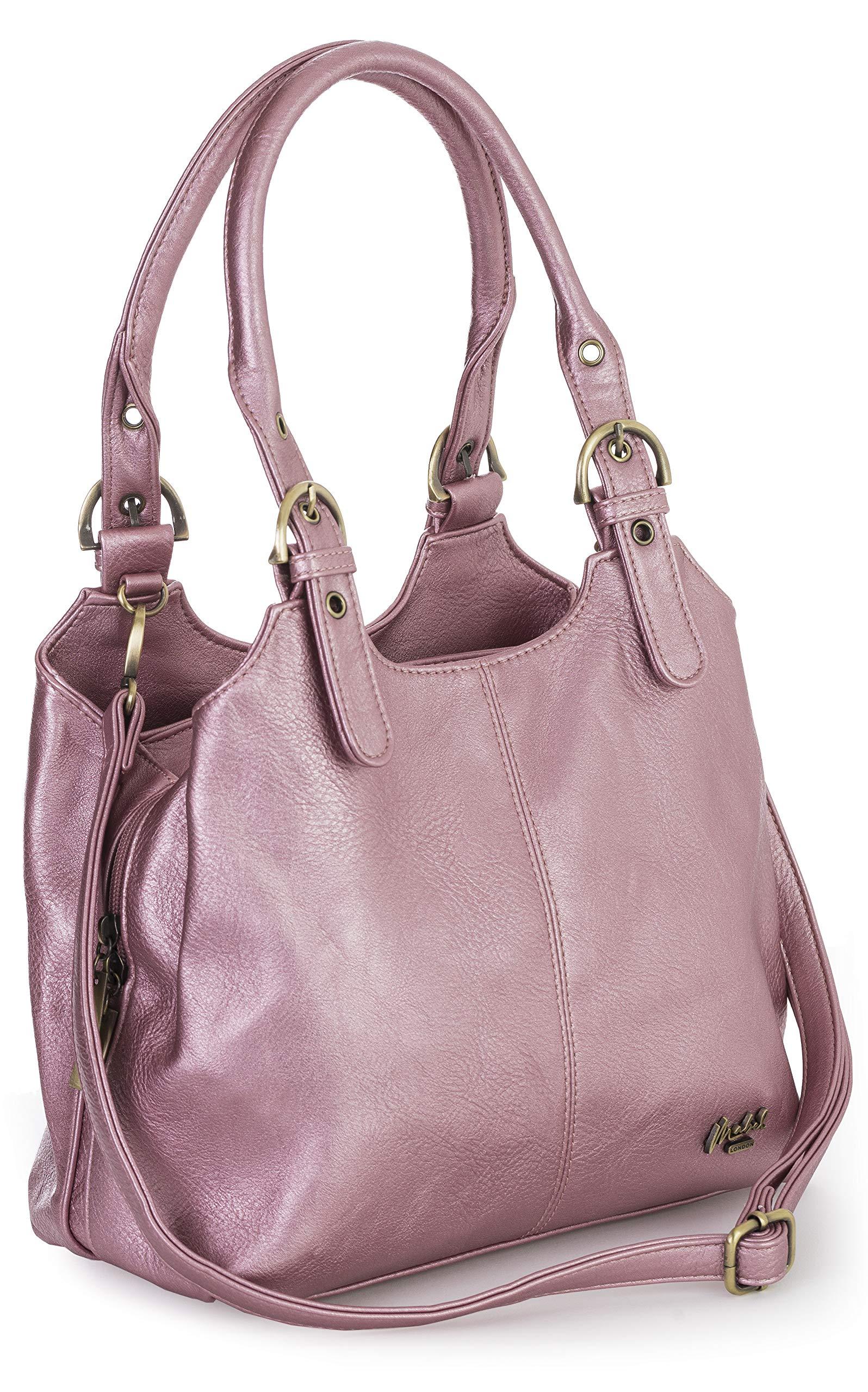 265fed256d Big Handbag Shop BHBS - Sac à main pratique pour femme - Multiple poches de  rangement