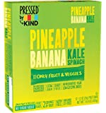 Pressed by KIND Bars, Pineapple Banana Kale Spinach, No Sugar Added, 1.2oz, 12 Count