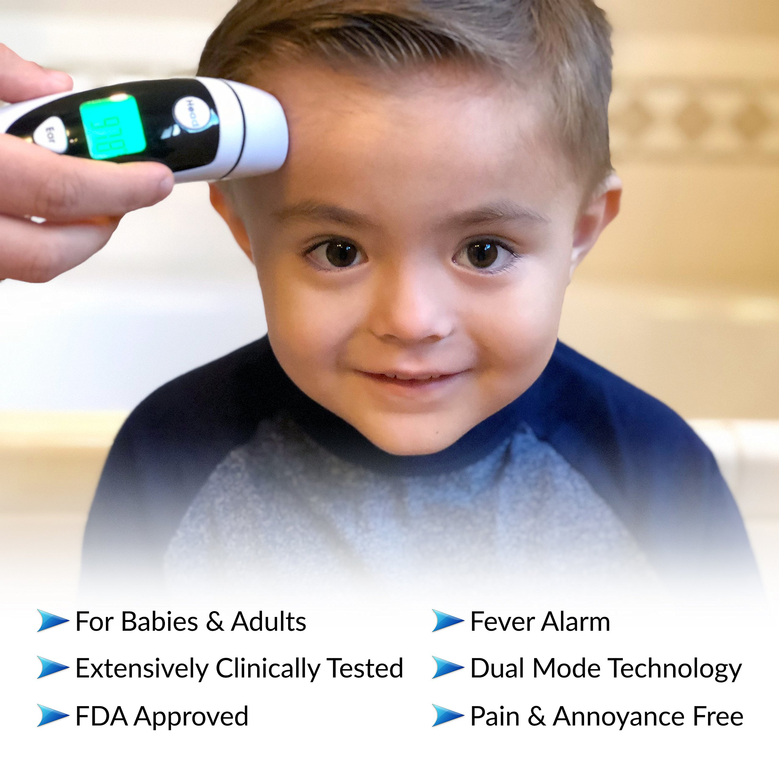 Champion IR - Medical Ear Thermometer With Forehead Function - Infared Technology & LCD Screen For Improved Accuracy by Champion IR (Image #6)