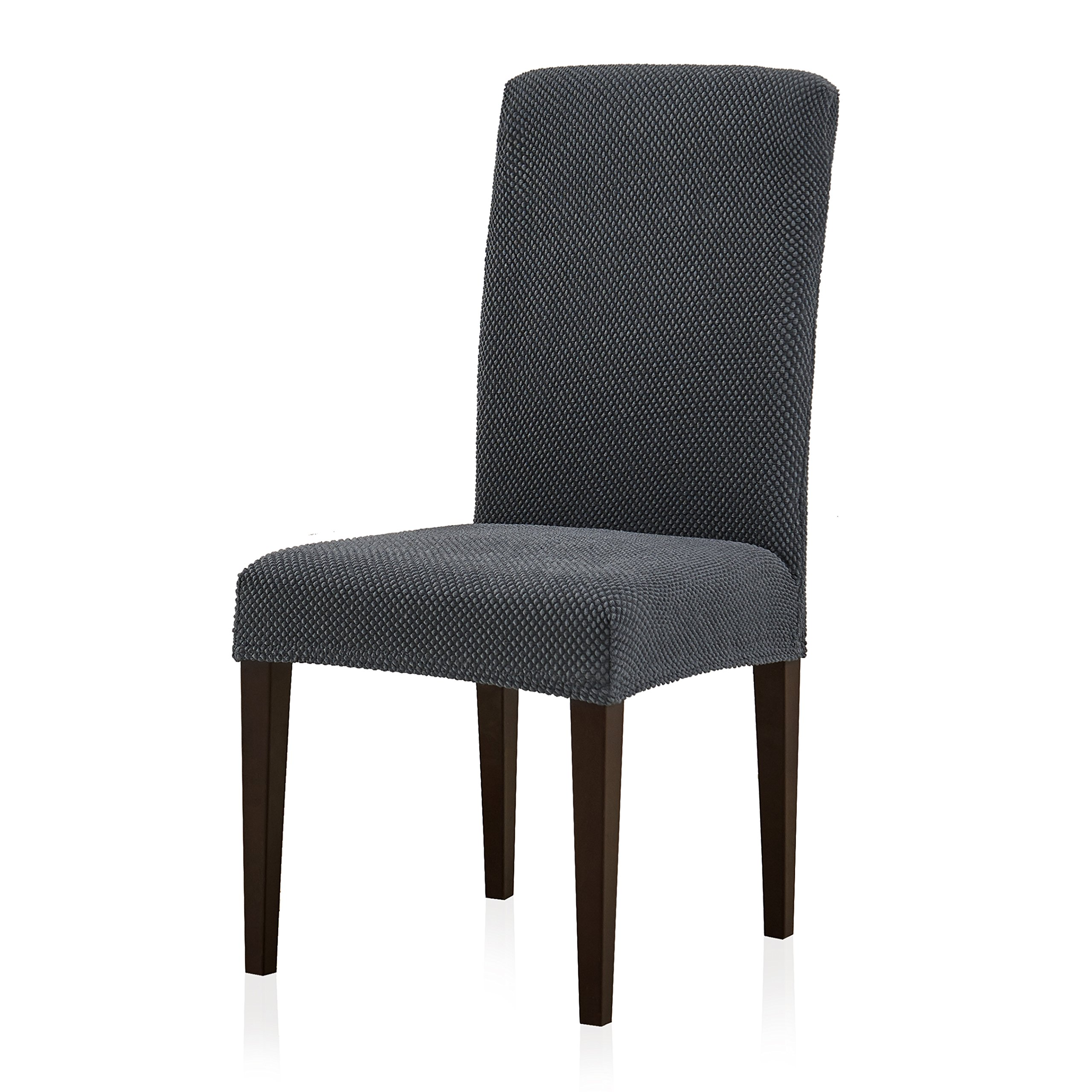 Subrtex Stretch Dining Room Chair Slipcovers (2, Gray Jacquard)