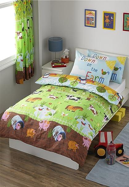 Los animales de la granja funda de edredón juego de cama
